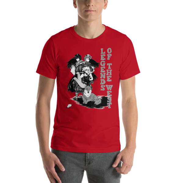02adbef69b0a Novelty Anime Design T-shirts | Legends of the West Manga Tees