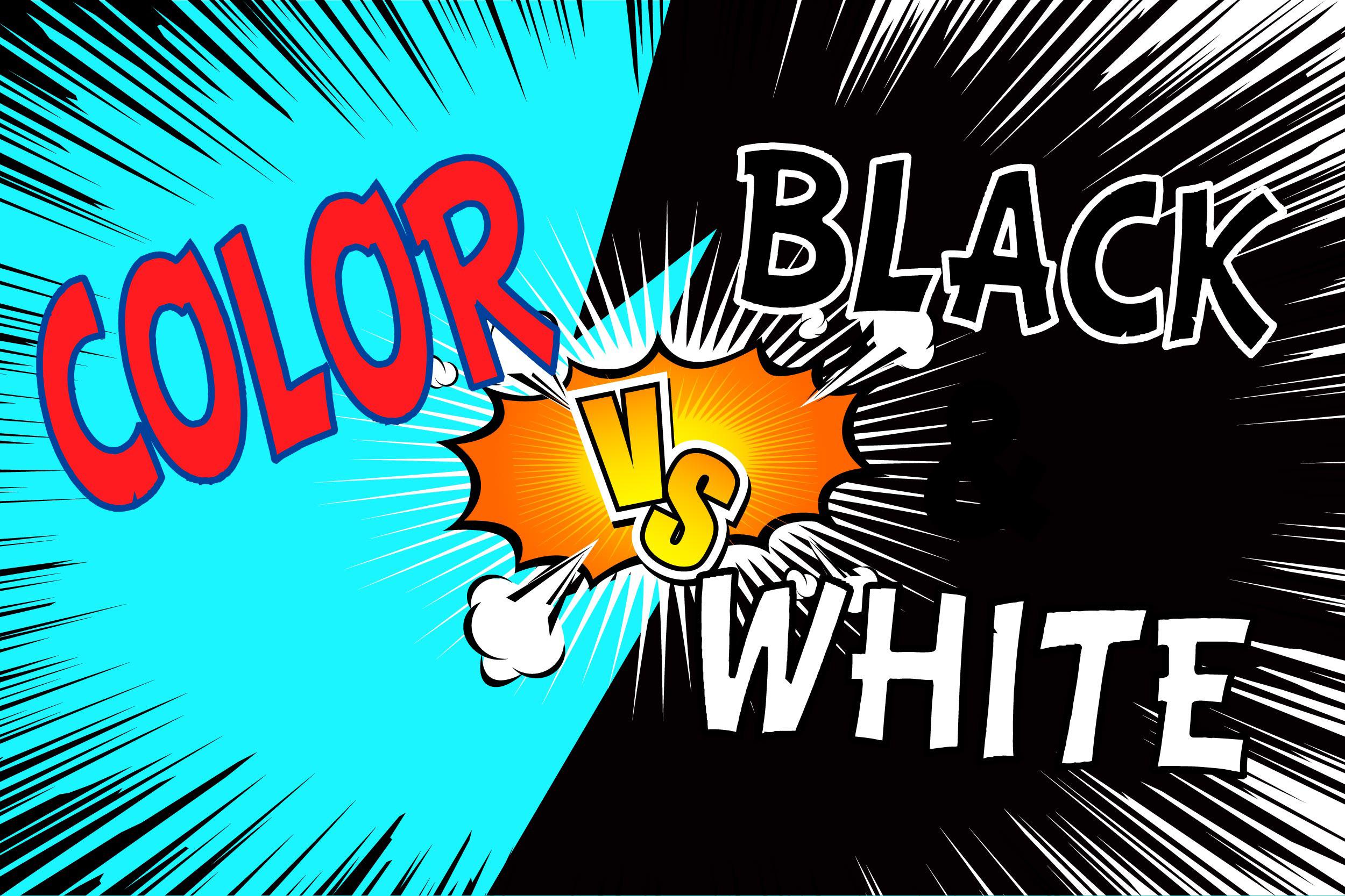 Color vs black and white comics